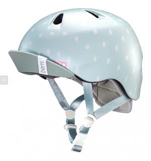 bern キッズサイクルヘルメット/ NINA - SATIN SEAGLASS POLKA DOT(国内正規品)