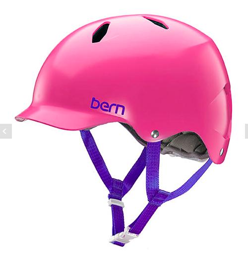 bern キッズサイクルヘルメット/ BANDITA - SATIN PINK(国内正規品)