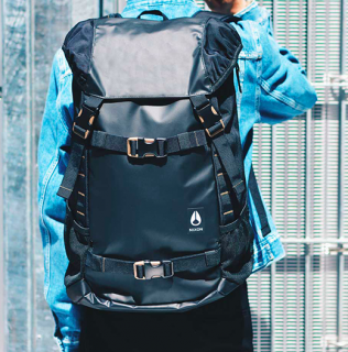 <img class='new_mark_img1' src='//img.shop-pro.jp/img/new/icons3.gif' style='border:none;display:inline;margin:0px;padding:0px;width:auto;' />NIXON / LANDLOCK III BACKPACK-ALL BLACK NYLON<br>ニクソンの顔とも言うべき<br>大人気バックパック2017AW