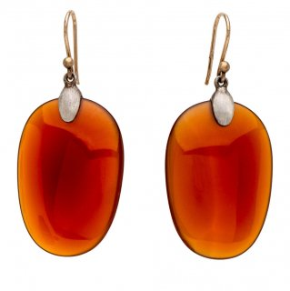 Ted Muehling <br>テッドミューリング/<br>Carnelian Large-Silver Top <br>NY発。自然の美をとじこめた大人のためのジュエリー