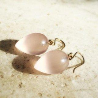 Ted Muehling <br>テッドミューリング/<br>Rose Quartz Acorn Earrings <br>NY発。自然の美をとじこめた大人のためのジュエリー