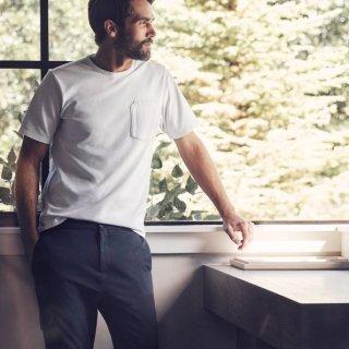 AETHER / PIQUE POCKET <br>TEE-WHITE<br> カジュアルになり過ぎない大人のTシャツ