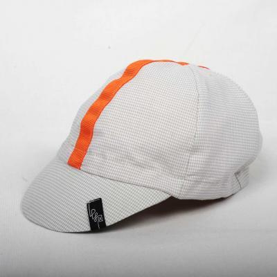 Lucky Basterds/ Lucky Caps -Gray Ckecked+Orange