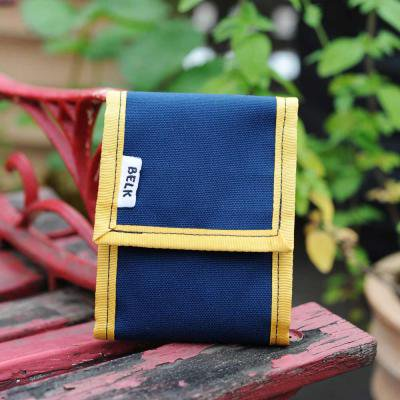 【メール便OK!】BELK Bags/ Touch Pouch -Navy×Yellow