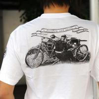 Wheelmen&co. War office T-shirts/ White