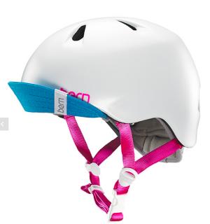 bern キッズサイクルヘルメット/ NINA - SATIN WHITE VISOR(国内正規品)