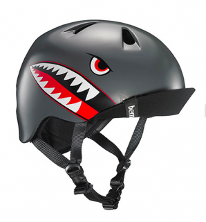bern キッズサイクルヘルメット/ NINO - SATIN GREY FLYING TIGER(国内正規品)
