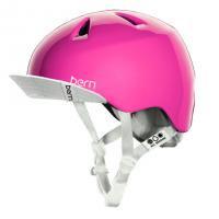 bern キッズサイクルヘルメット/ NINA - GLOSS PINK VISOR(国内正規品)