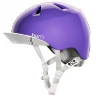bern キッズサイクルヘルメット/ NINA - GLOSS PURPLE VISOR(国内正規品)