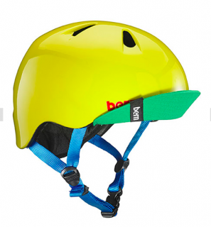 bern キッズサイクルヘルメット/ NINO - GLOSS YELLOW GREEN(国内正規品)