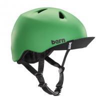 bern キッズサイクルヘルメット/ NINO - MATTE KELLY GREEN VISOR(国内正規品)