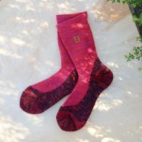 日本野鳥の会/ バードウオッチング靴下 メリノ-婦人用 RED