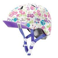 bern キッズサイクルヘルメット/ NINA - SATIN WHITE FLORAL VISOR(国内正規品)