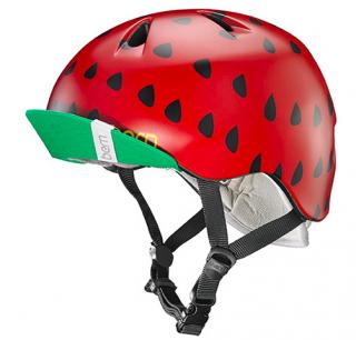 bern キッズサイクルヘルメット/ NINA - SATIN RED STRAWBERRY (国内正規品)