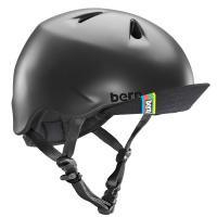 bern キッズサイクルヘルメット/ NINO - MATTE BLACK  VISOR(国内正規品)