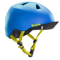 bern キッズサイクルヘルメット/ NINO - MATTE BLUE  VISOR(国内正規品)