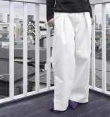 【IROR BRILLIANT MARKET/イロアールブリリアントマーケット】 EASY WIDE VENTS PANTS/ WHITE[09117]