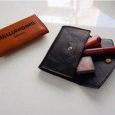 【intoxic】 leather multicase -REWARDING:-/ブラック【LT-003】