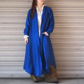 <img class='new_mark_img1' src='https://img.shop-pro.jp/img/new/icons50.gif' style='border:none;display:inline;margin:0px;padding:0px;width:auto;' />【hippiness】cupro long shirt one-piece/ ONEサイズ BLUE[]