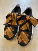 【RehersalL】ripstop ribbon sneakers/23〜24.5cm brown[WG836]