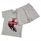 <img class='new_mark_img1' src='https://img.shop-pro.jp/img/new/icons24.gif' style='border:none;display:inline;margin:0px;padding:0px;width:auto;' />【70%OFF】【Little ELEVENPARIS/リトル イレブンパリ】 SUPERHEROセットアップ/M42オートミール(2〜16Y)[2943-1161]