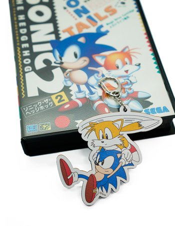 SONIC & TAILS WOOD KEY HOLDER