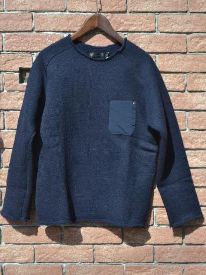 Knitting Store In Tokyo : Re made in tokyo japan low gauge wool airy knit navy