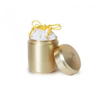 分骨用・真ちゅう製小さな骨壷(小さい骨壷・ミニ骨壷) 【なごみ/白-ホワイト-】