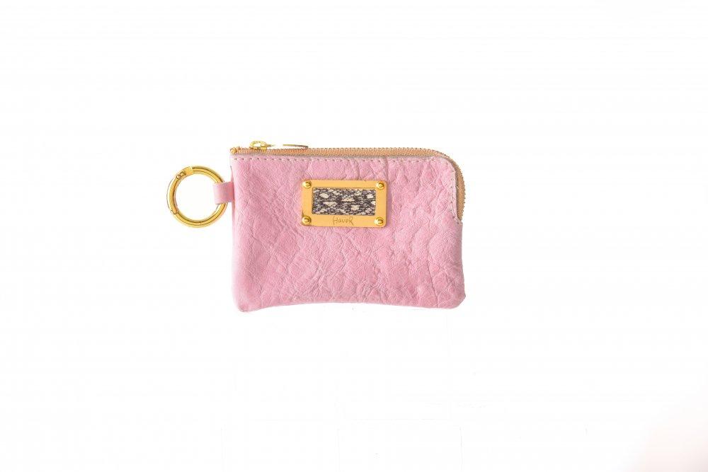 ハバー キーコインケース/ピンク