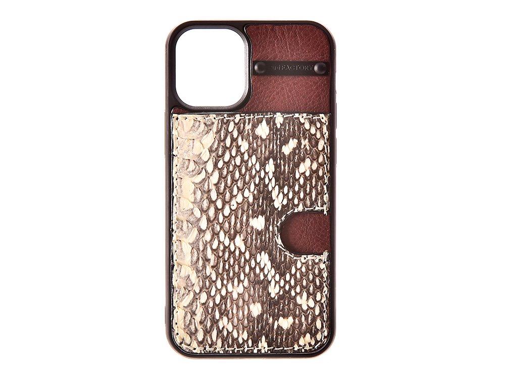 iPhone12 mini カード ケース ムルカ/ブラウン
