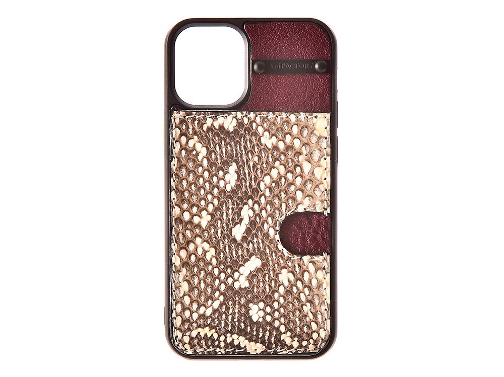 iPhone12 mini カード ケース ムルカ/ワイン