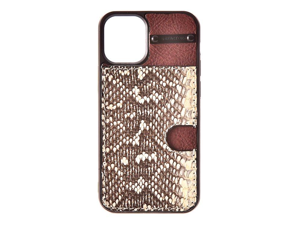 iPhone12 ・12pro  カード ケース ムルカ/ブラウン