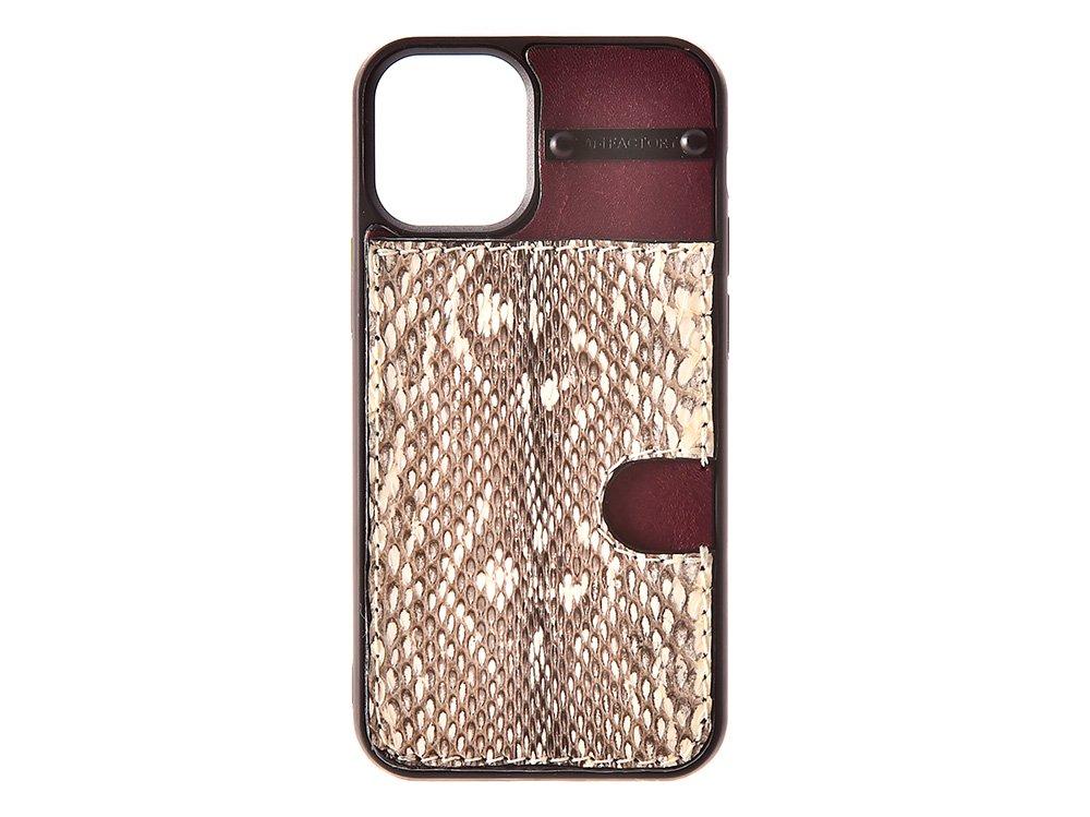 iPhone12 ・12pro  カード ケース ムルカ/ワイン