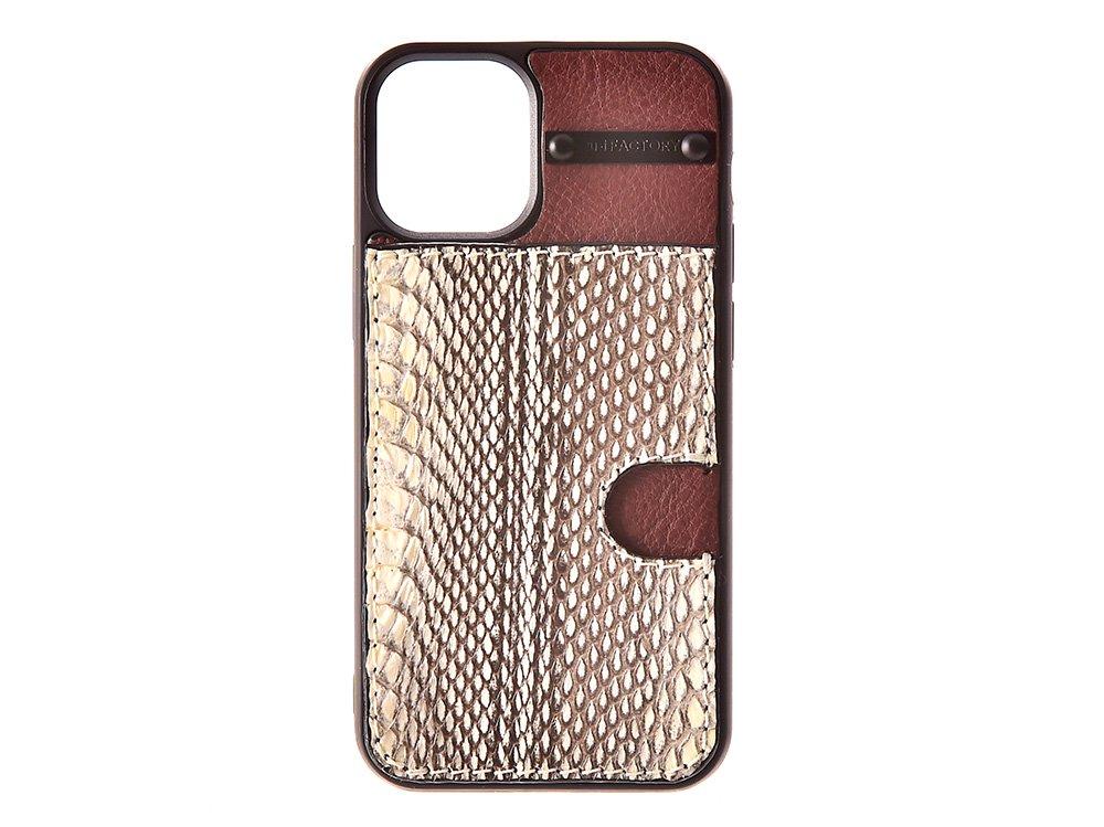 iPhone12 ・12pro  カード ケース クメハブ/ブラウン