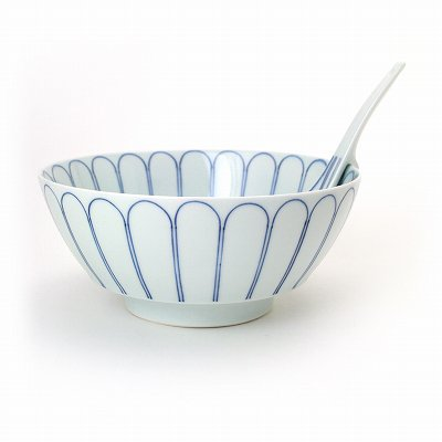 菊花紋・青 究極のラーメン鉢