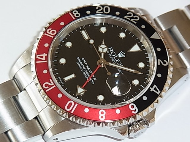 ロレックス GMTマスターII Ref.16710 赤/黒ベゼル A番