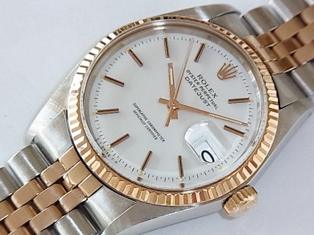 premium selection 22056 e57bf ロレックス デイトジャスト Ref.1601/5 PG&SS エナメルダイヤル - 福岡・腕時計専門店アンチェインドカラーズ/買取