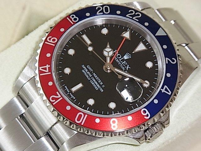 ロレックス GMTマスターII Ref.16710 スティックダイヤル 赤青ベゼル FullSet