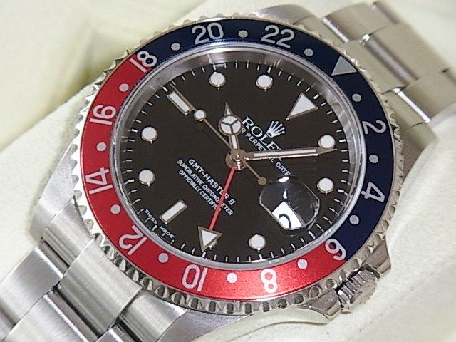 ロレックス GMTマスターII Ref.16710 赤青ベゼル D番