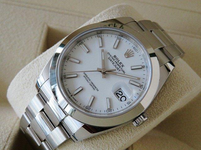 ロレックス デイトジャスト41 Ref.126300 ホワイト 未使用品
