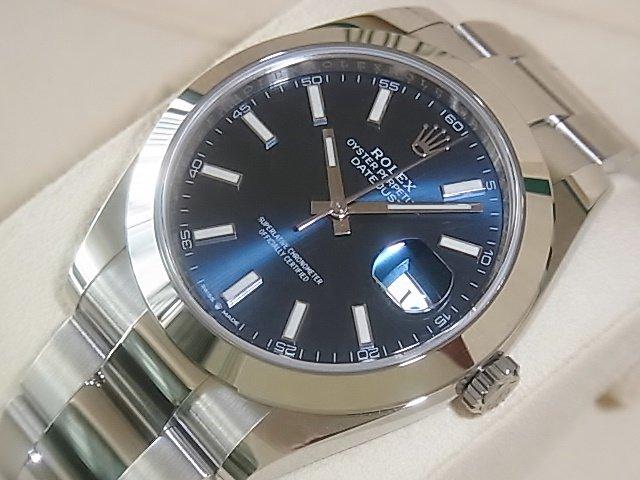ロレックス デイトジャスト41 Ref.126300 ブルー 未使用品