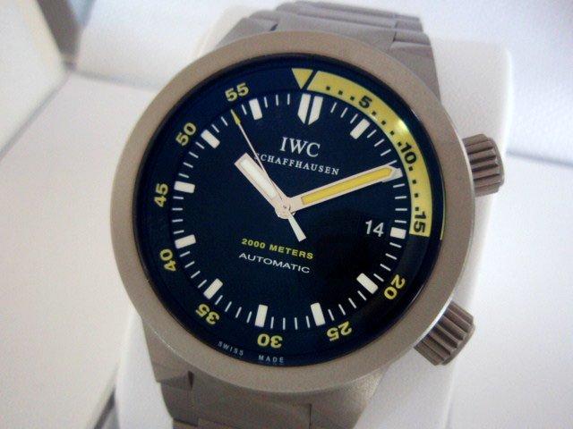 IWC アクアタイマー Ref.353803 チタン 正規未使用品