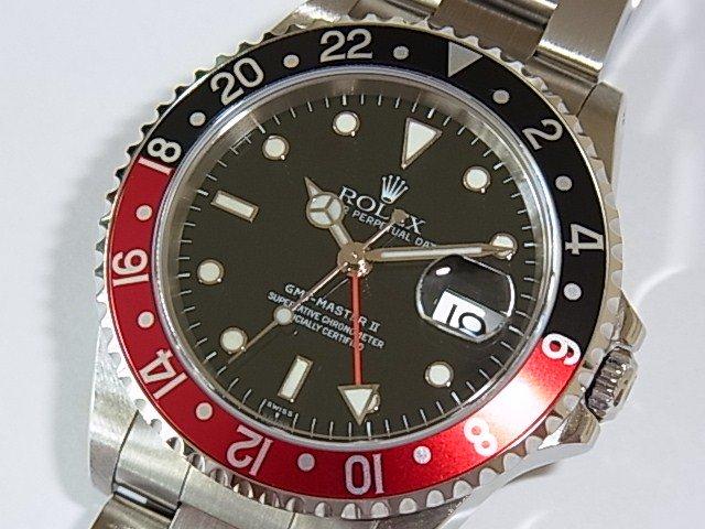 ロレックス GMTマスターII Ref.16710 赤/黒ベゼル 正規品 U番