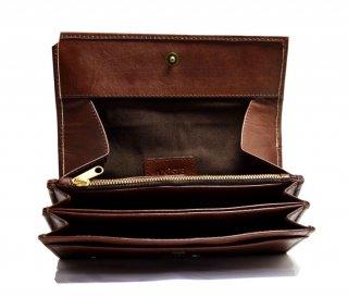 ギャルソン長財布 ハンドメイド 高級本革 col.Brown ブラウン レディース/メンズ 1807015