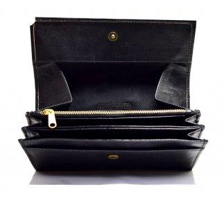 ギャルソン長財布 ハンドメイド 高級本革 col.Black ブラック レディース/メンズ 1807016