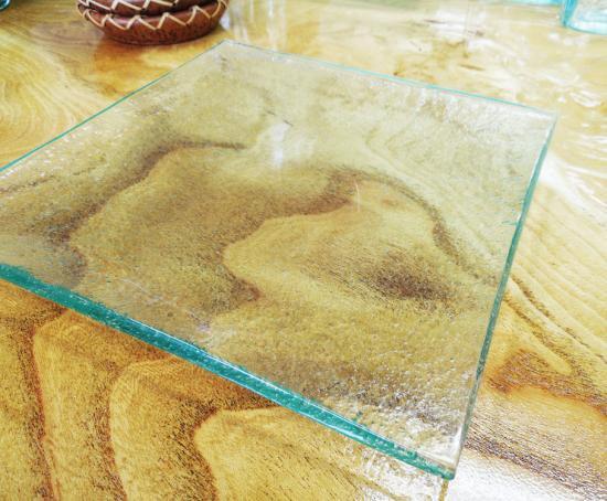 クリアガラスプレート ( L )【涼しげなバリガラス】