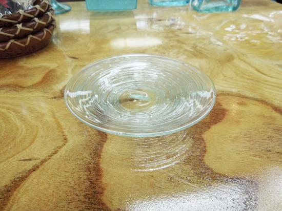 小皿 【涼しげなバリガラス】