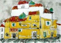 038.ポルトの黄色い建物