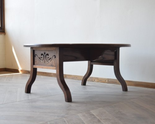 飾り細工の素敵な欅板の座卓