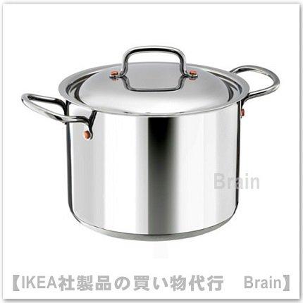 VARDAGEN:鍋 ふた付き5 L(ステンレススチール)